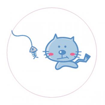 "Светоотражающий значок ""Котик"""