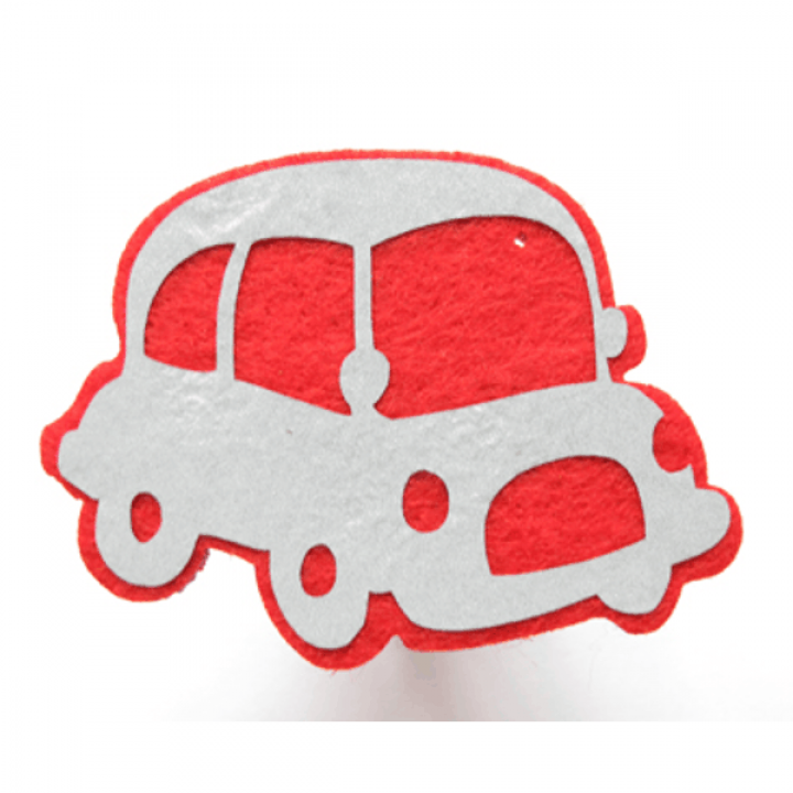 """Светоотражающая подвеска """"Машинка"""" (красный контур)"""