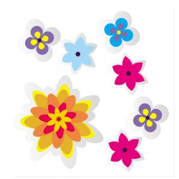 """Набор светоотражающих наклеек """"Цветы"""""""