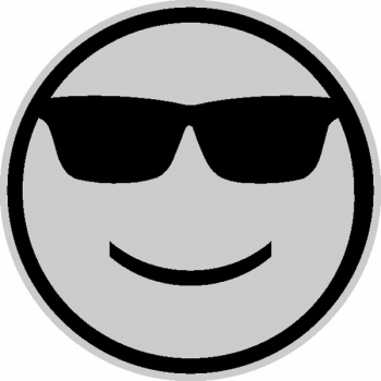 """Светоотражающий значок """"Смайл в очках"""""""