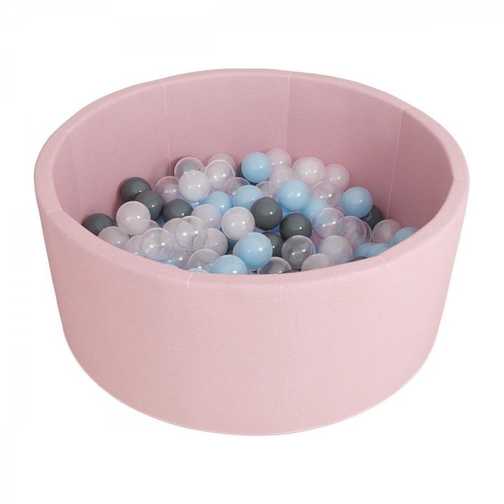 Сухой бассейн ROMANA Airpool 150 шариков розовый