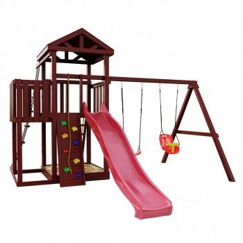 Детская игровая площадка IgraGrad Панда Фани с балконом и сеткой
