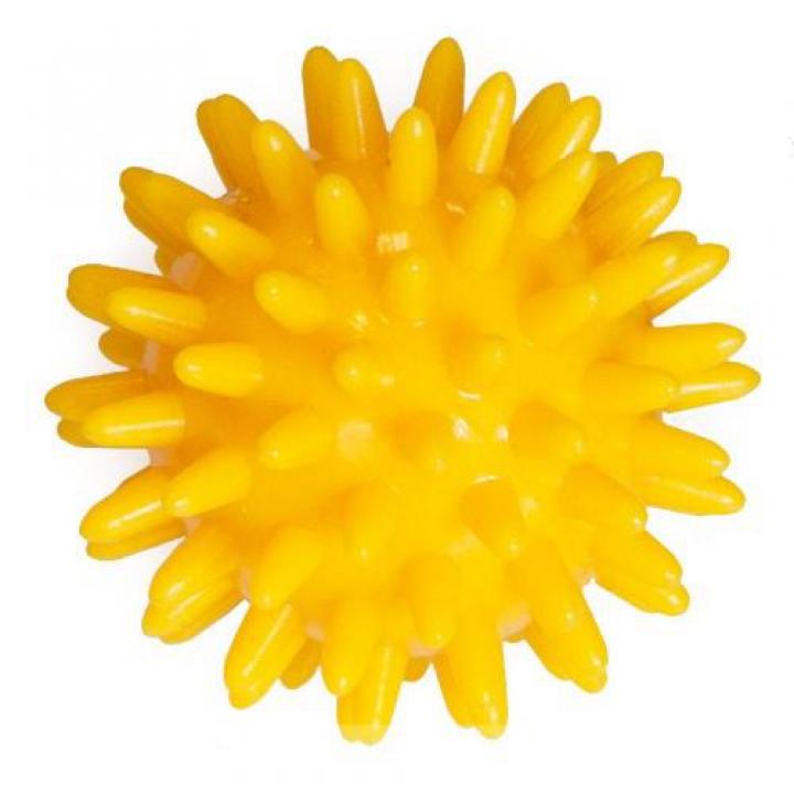 Мяч массажный M-106 6см желтый