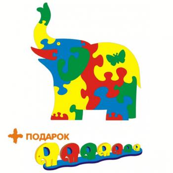 Коврик-пазл Флексика Слон Тедико 45434