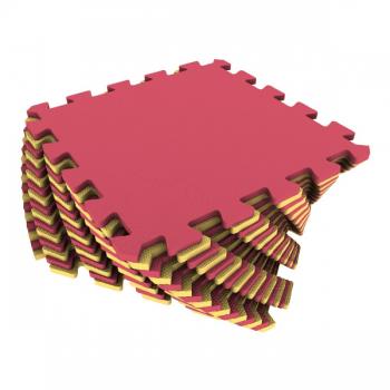 Коврик-пазл Экополимеры желтый-красный 25х25 16шт