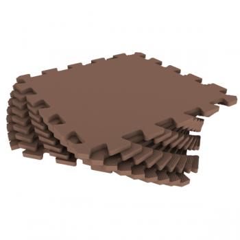 Модульное покрытие Экополимеры коричневый 33х33 9шт