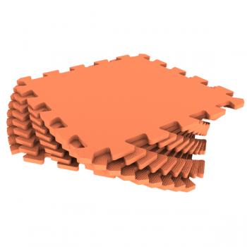 Модульное покрытие Экополимеры оранжевый 33х33 9шт