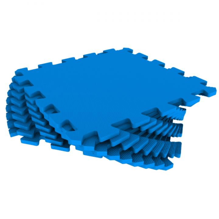 Модульное покрытие Экополимеры синий 33х33 9шт