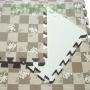 Модульное покрытие MD Коричневая клетка с собачками MTP-30103