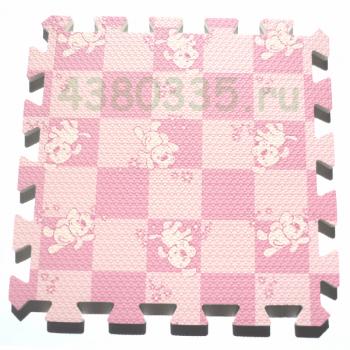 Модульное покрытие MD Розовая клетка с собачками MTP-30105