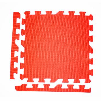 Модульное покрытие с кромками Экополимеры красный 30х30 9шт