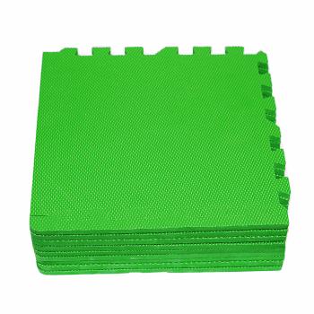 Модульное покрытие с кромками Экополимеры зеленый 30х30 9шт