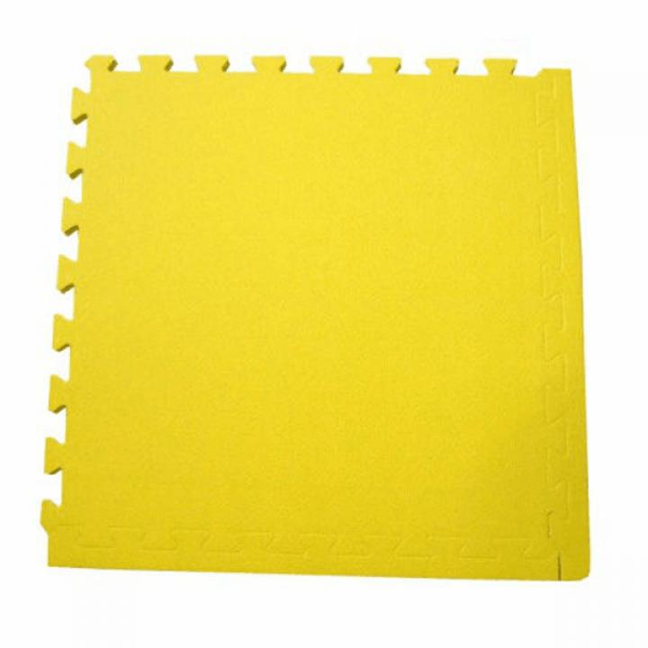 Модульное покрытие с кромками Экополимеры желтый 30х30