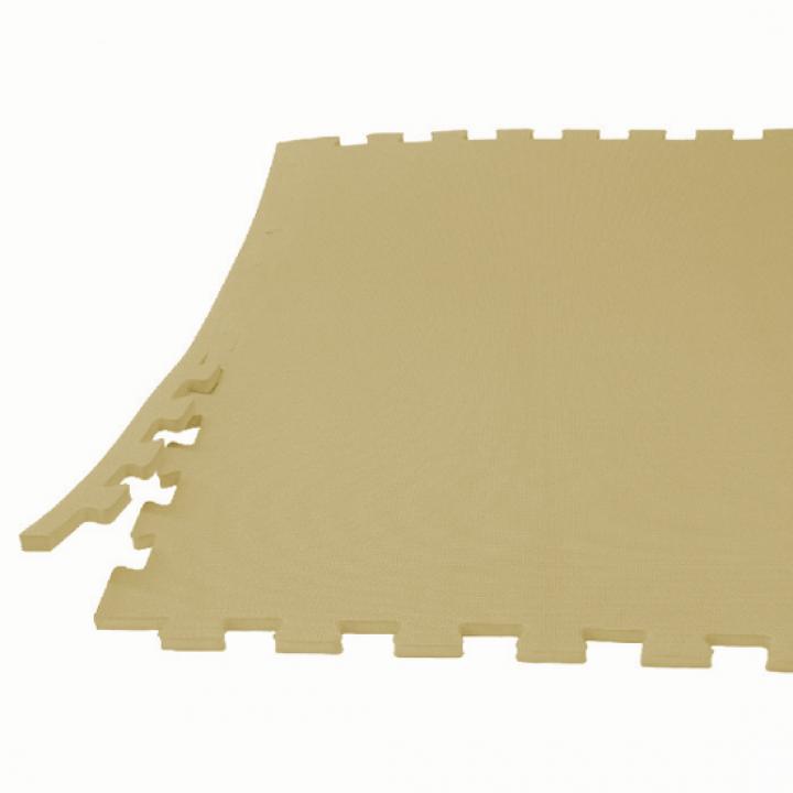 Модульное покрытие с кромками Экополимеры бежевый 60х60 4шт