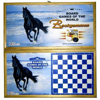 """Нарды средние """"Конь"""" MPSport 02-78"""
