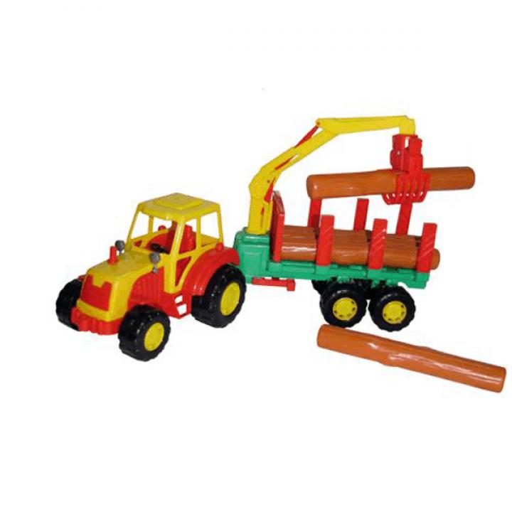 Трактор с полуприцепом-лесовозом Мастер Полесье 35295