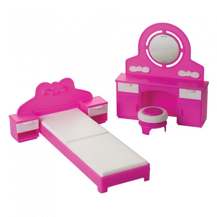 Кукольная мебель Спальня Зефир Огонек С-1406