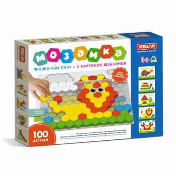 Мозаика детская 100 деталей Стеллар 01079