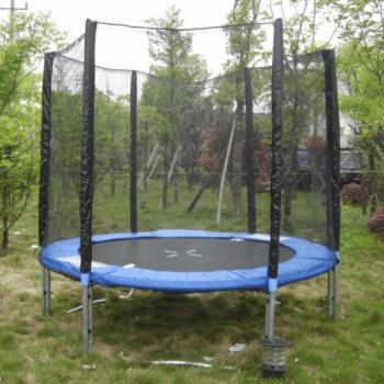Батут с защитной сетью DFC Trampoline Fitness 244 см